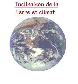Vidéo inclinaison et climat